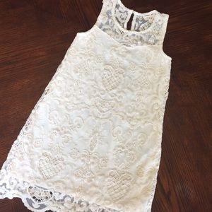 Cream lace girls dress!